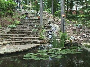Garden Peaceful Pond & Steps Mvc-021sBrook-7
